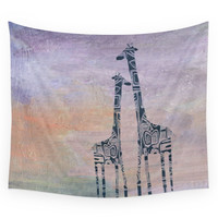 Society6 Giraffes Wall Tapestry