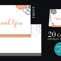 Printable Customized Wedding Set: Thank You Notes