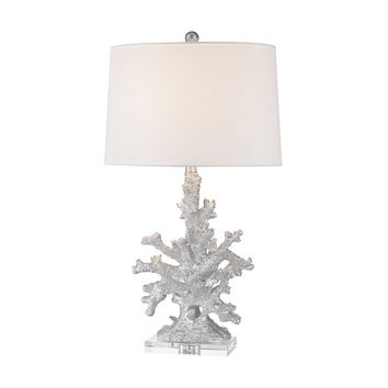 D2935 Trunk Bay 1 Light Table Lamp In Silver - Free Shipping!