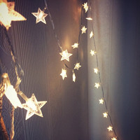 10 Meters Warm White LED Stars String Lights (Plug Design) Christmas Decor