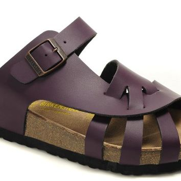 Birkenstock Pisa Sandals Artificial Leather Purple - Ready Stock