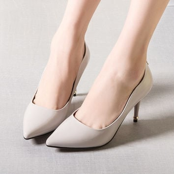 Summer High Heel Pointed Toe Design Metal Shoes [4919958084]