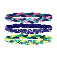 Under Armour Women's Braided Mini Headbands (3-Pack), Chaos, One Size