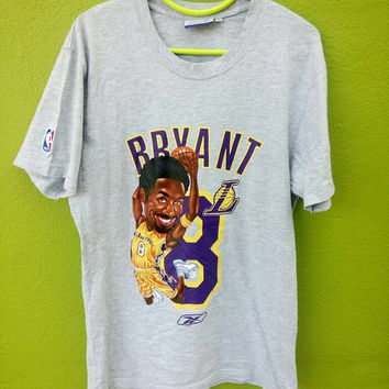 Vintage Kobe Bryant Reebok Basketball Legend Lakers All Star Player T-Shirt