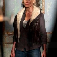 The Walking Dead Andrea Laurie Holden Jacket Fur