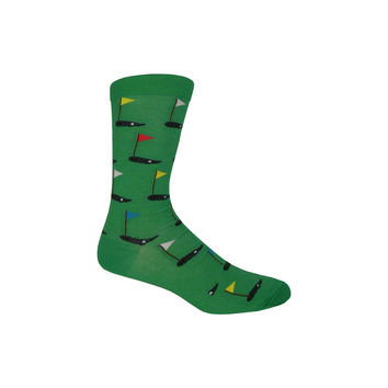 On the Green Crew Socks in Kelly
