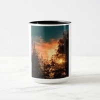 Sun setting on a ringer mug
