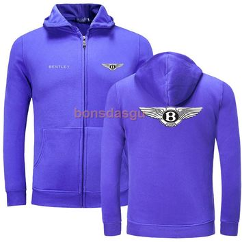 Bentley car zipper Men Hoodies