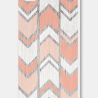 Geometric Phone Case - Herringbone Peach Geometric iPhone 4 / 4s - 5 / 5s - 5c Case - Coral iPhone 5c Case - iPhone 5 Case - iPhone 4s Case