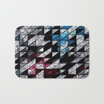 GEOMETRY  Bath Mat by Jessica Ivy