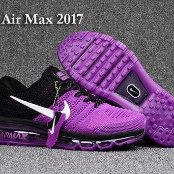 PEAPONNF1 Nike Air Max 2017 KPU Purple, Black & White Women's Running Shoes Sneakers