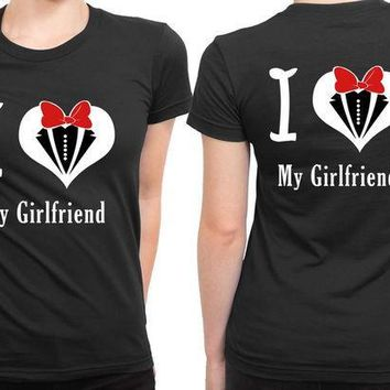 MDIG1GW I Love My Girlfriend Valentine 2 Sided Womens T Shirt
