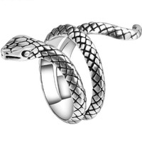 Metals Punk Rock Snake Rings For Women