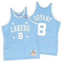 NBA Authentic Los Angeles Lakers Jersey In Sky Blue