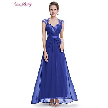 [Clearance Sale] Formal Evening Dress Ever Pretty HE09867 Sexy lady V-neck Diamante Cap Sleeves long Chiffon Evening Dress