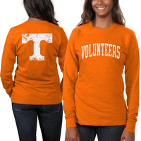Tennessee Volunteers Women's Long Sleeve Fitted Slab Serif T-Shirt – Tennessee Orange