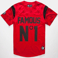Famous Stars & Straps Jersey No. 1 Mens Jersey Red  In Sizes