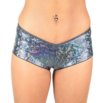 Holographic Low Rise Rave Boy Shorts