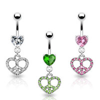 Belly Ring-Hearts