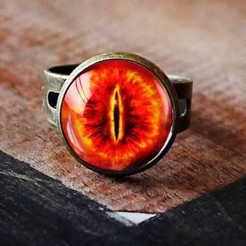 Eye of Sauron ring, lord of the rings jewelry, sauron's eye ring, Mordor ring, lord of the rings quote, mens ring, statement ring, R_B33