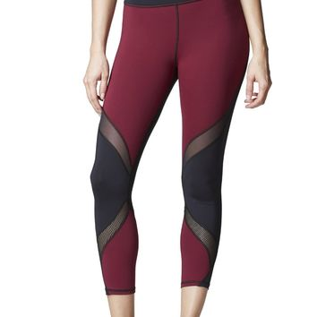 Michi Hydra Crop Legging- Shiraz Red | Women's Active Wear Legging