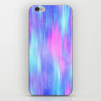 Aurora - Blur Abstract in Pink, Purple, Aqua & Royal Blue iPhone & iPod Skin by TigaTiga Artworks