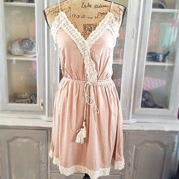 ALL YOUR DESIRES DRESS IN MOCHA
