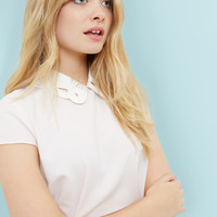 Embroidered collared top - Pink | Tops & T-shirts | Ted Baker UK