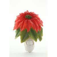 Poinsettia Night Light, Ibis & Orchid Nightlights, NIB, 50012