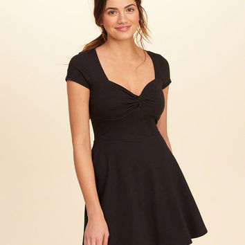 Girls Twist-Front Skater Dress | Girls Dresses & Rompers | HollisterCo.com