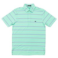Newberry Performance Polo in Bimini Green and Lilac by Southern Marsh