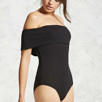 Fold-Over Collar Bodysuit