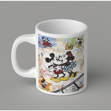 Gift Mugs | Mickey And Minnie In Love Ceramic Coffee Mugs