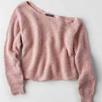 AEO Slouchy Off-the-Shoulder Crop Sweater, Blush