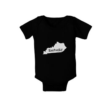 Kentucky - United States Shape Baby Bodysuit Dark by TooLoud