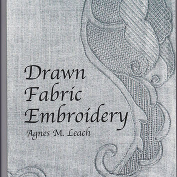 Book Drawn Fabric Embroidery by Agnes M Leach by 7thStash on Etsy