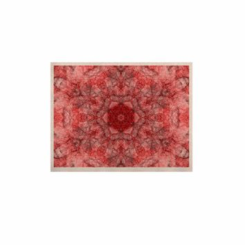 """Justyna Jaszke """"Mandala Red Art"""" Red White Abstract Pattern Digital Mixed Media KESS Naturals Canvas (Frame not Included)"""
