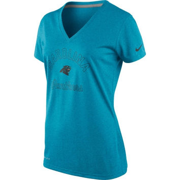 Carolina Panthers Nike Women's Football Legend V-Neck Performance T-Shirt – Panther Blue