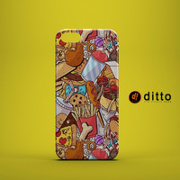 FOODIE DREAM Design Custom Case by ditto! for iPhone 6 6 Plus iPhone 5 5s 5c iPhone 4 4s Samsung Galaxy s3 s4 & s5 and Note 2 3 4