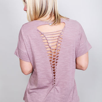 Ladder Back Mauve Tee