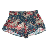 Free People Womens Floral Print High Waist Casual Shorts