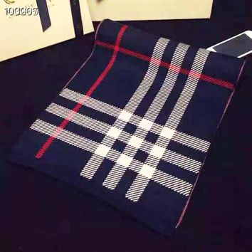 Burberry Fashion Women Men Retro Plaid Cashmere Cape Scarf Scarves Shawl Accessories