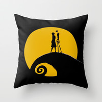 Romantic Moon Throw Pillow by Sberla