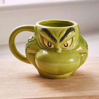 Grinch Face Mug - Urban Outfitters