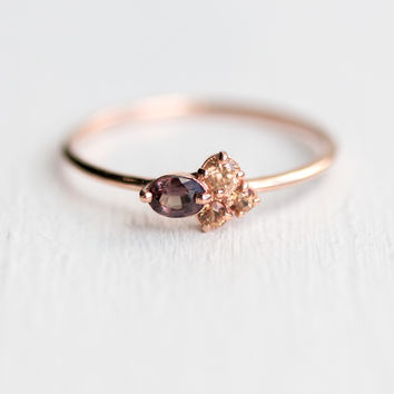 Mulberry Mini Cluster Ring