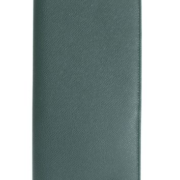 Dolce & Gabbana Green Dauphine Leather Bifold Document Holder