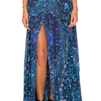 Spell & The Gypsy Collective Kiss The Sky Maxi Skirt in Bluejay
