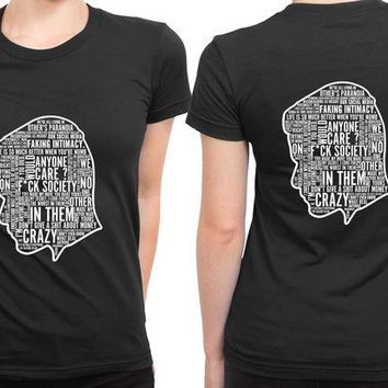 DCCKG72 Mr Robot Quote Silhouette 2 Sided Womens T Shirt