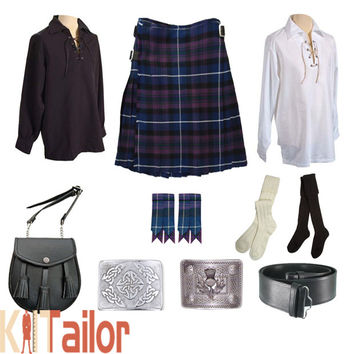 Scottish Pride of Scotland Tartan Kilt Outfit Deal Custom Made