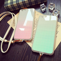 Cute Grid iPhone 5s 6 6s Plus Case Samsung iPhone 7 7 Plus case + Free Gift Box + Free Shipping -96